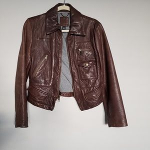 Brown Leather Jacket from Banana Republic